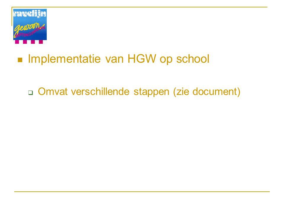 Implementatie van HGW op school