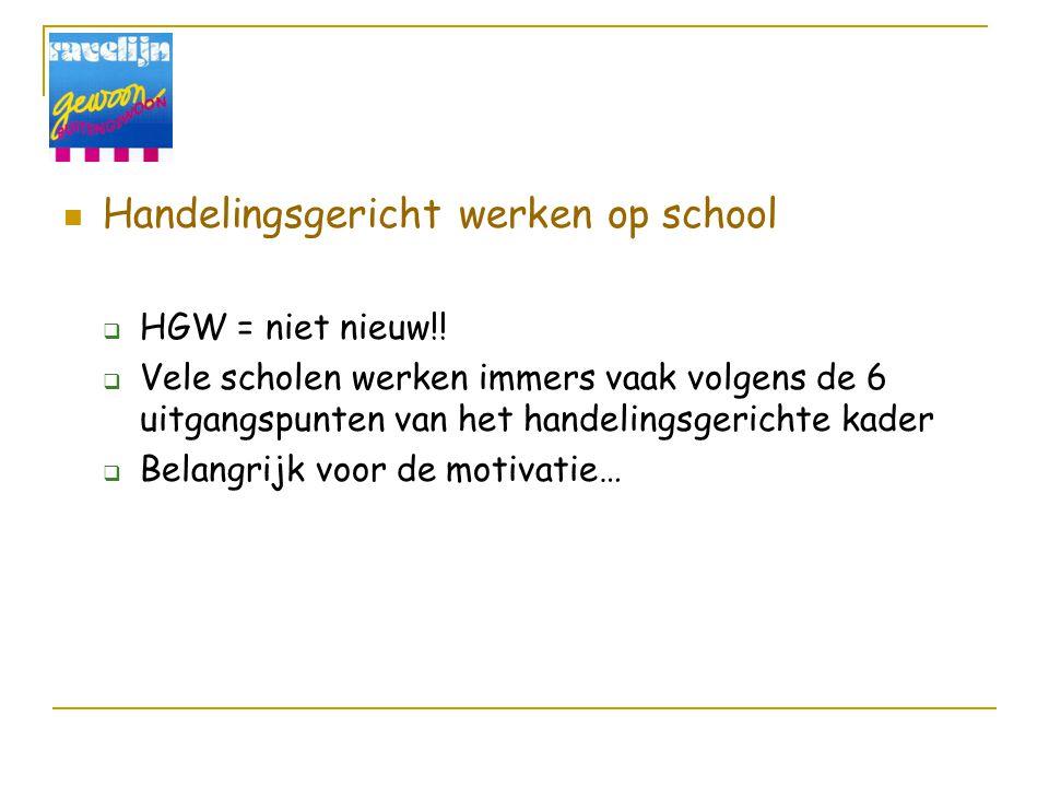 Handelingsgericht werken op school