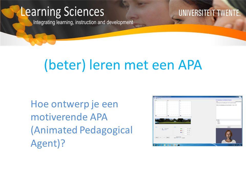 (beter) leren met een APA
