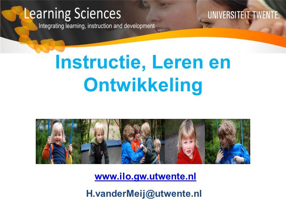 Instructie, Leren en Ontwikkeling