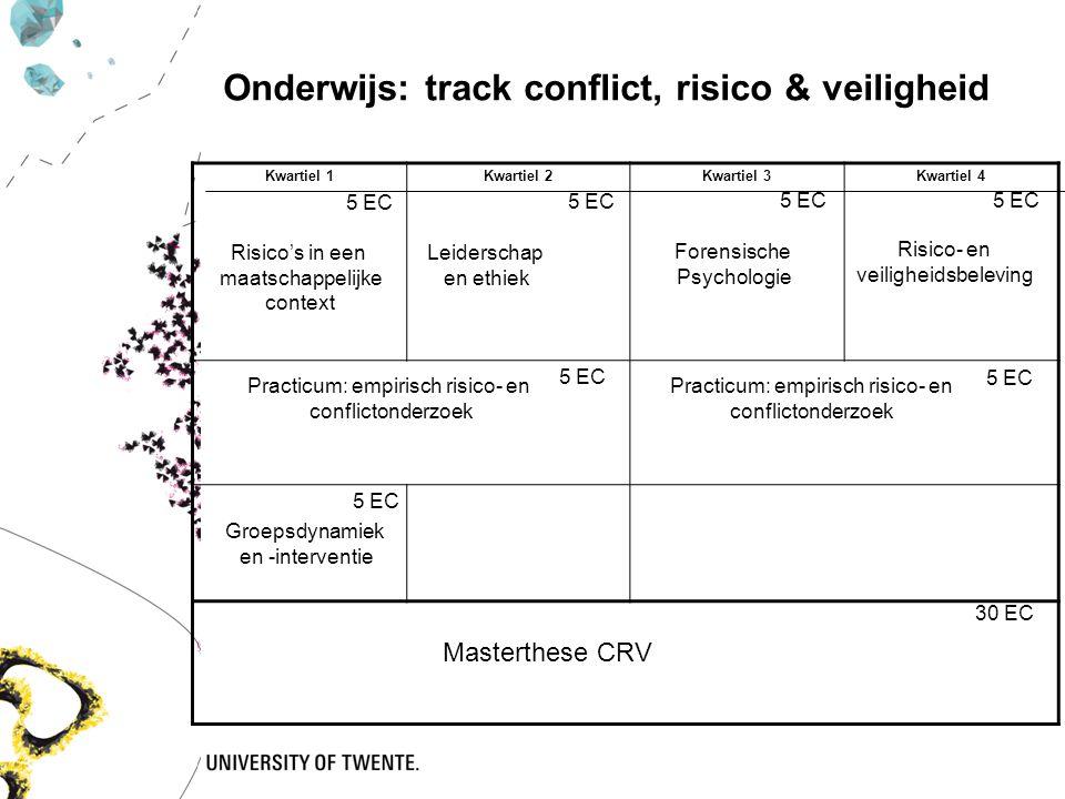 Onderwijs: track conflict, risico & veiligheid