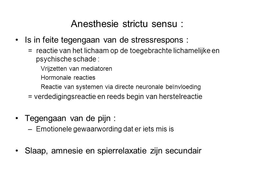 Anesthesie strictu sensu :