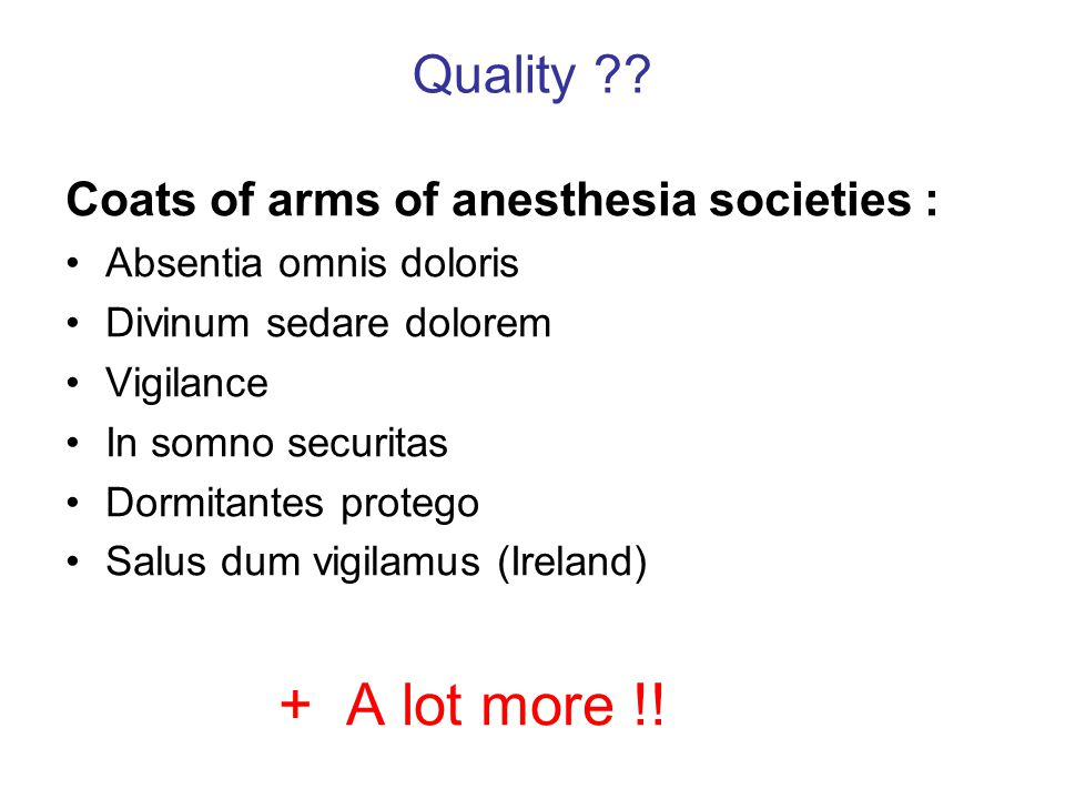 + A lot more !! Quality Coats of arms of anesthesia societies :