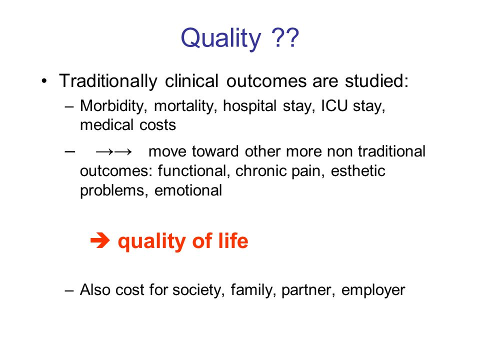 Quality  quality of life