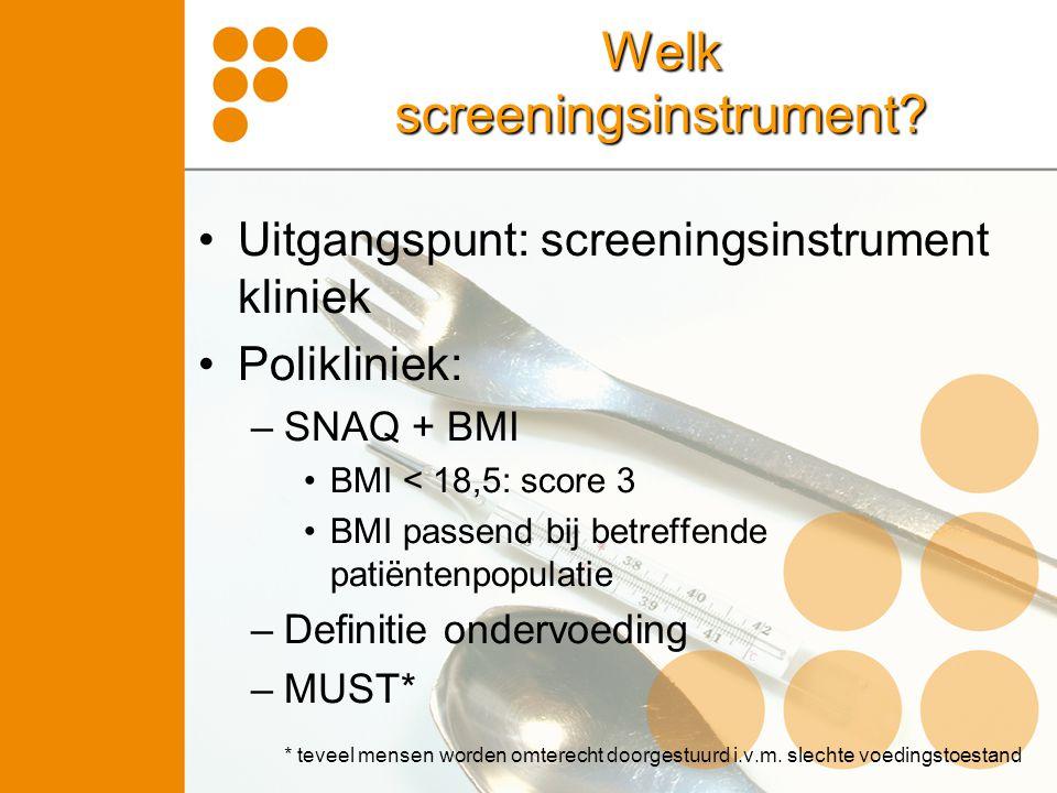 Welk screeningsinstrument