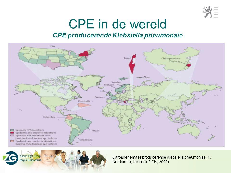CPE in de wereld CPE producerende Klebsiella pneumonaie