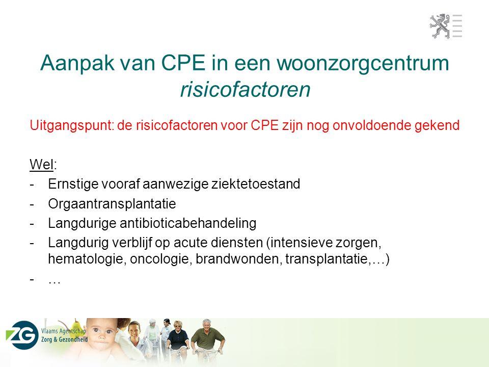 Aanpak van CPE in een woonzorgcentrum risicofactoren