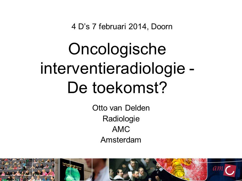 Oncologische interventieradiologie - De toekomst