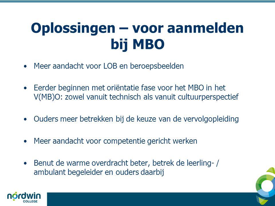 Oplossingen – voor aanmelden bij MBO