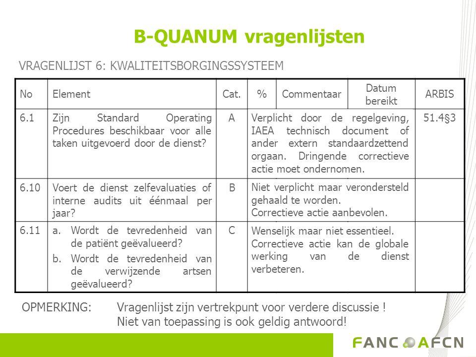B-QUANUM vragenlijsten