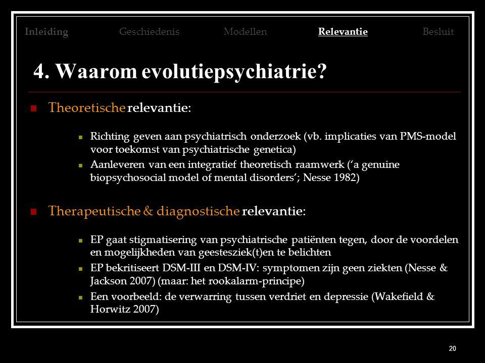 4. Waarom evolutiepsychiatrie