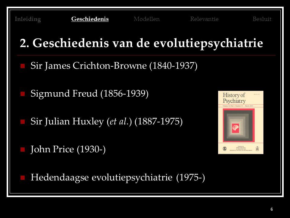 2. Geschiedenis van de evolutiepsychiatrie