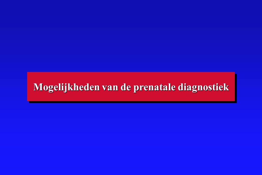 Mogelijkheden van de prenatale diagnostiek