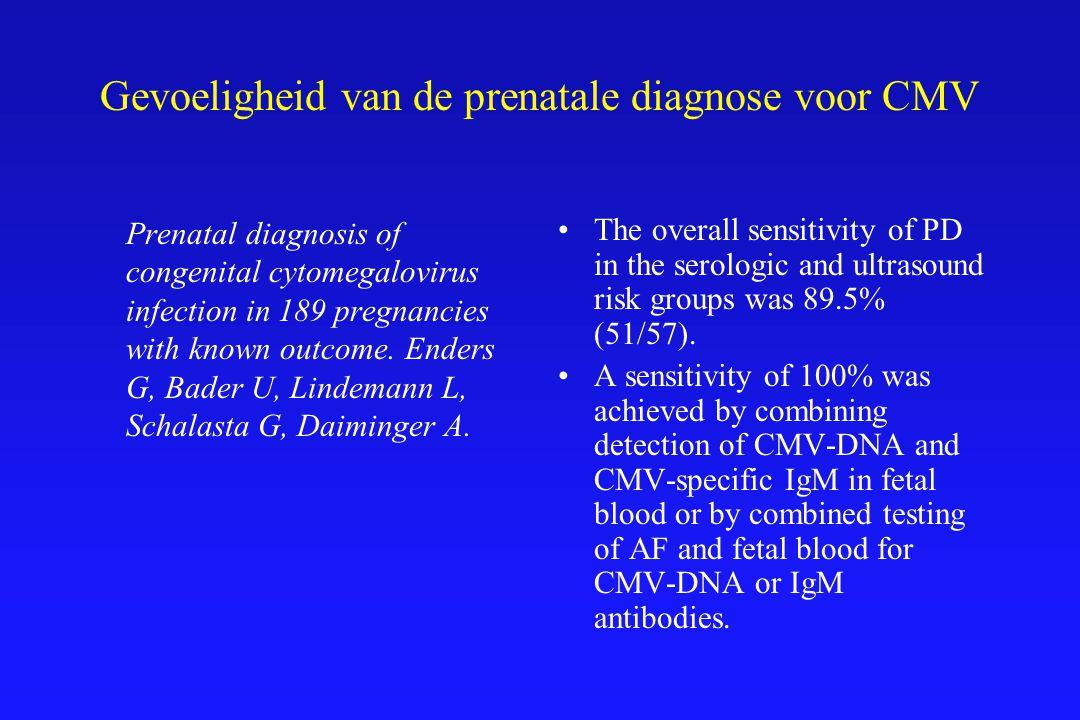 Gevoeligheid van de prenatale diagnose voor CMV