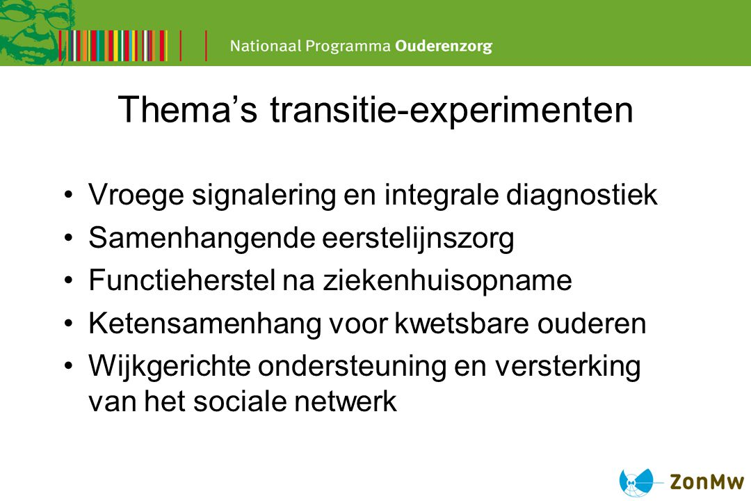 Thema's transitie-experimenten