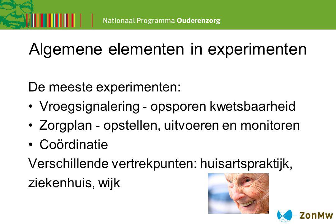 Algemene elementen in experimenten