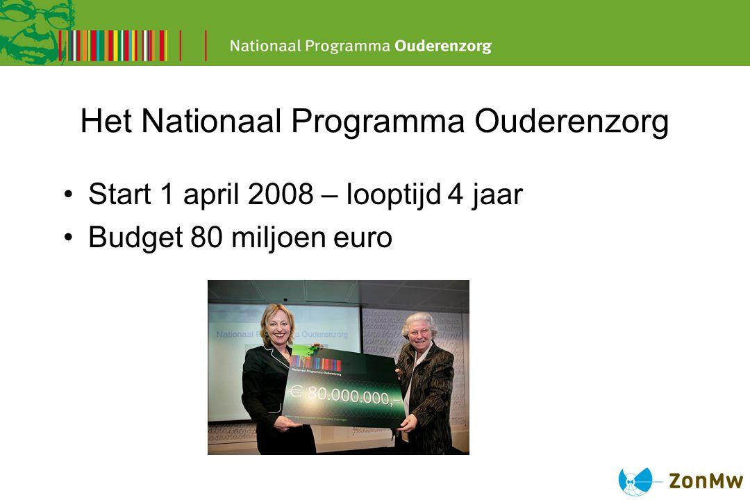 Het Nationaal Programma Ouderenzorg