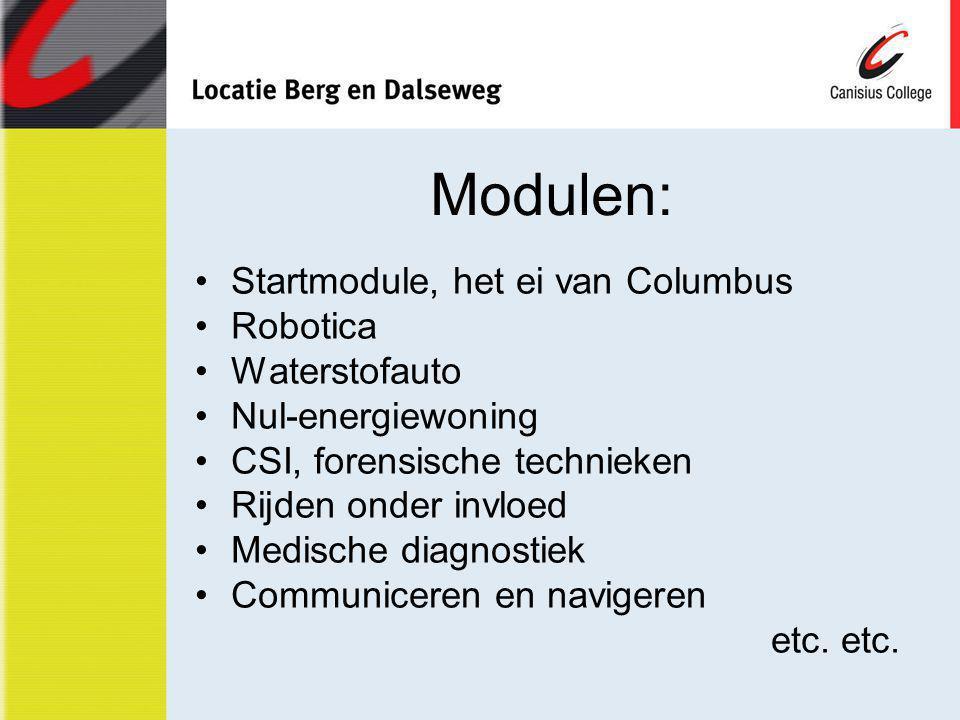 Modulen: Startmodule, het ei van Columbus Robotica Waterstofauto