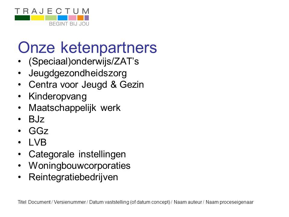 Onze ketenpartners (Speciaal)onderwijs/ZAT's Jeugdgezondheidszorg