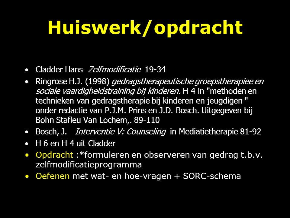 Huiswerk/opdracht Cladder Hans Zelfmodificatie 19-34