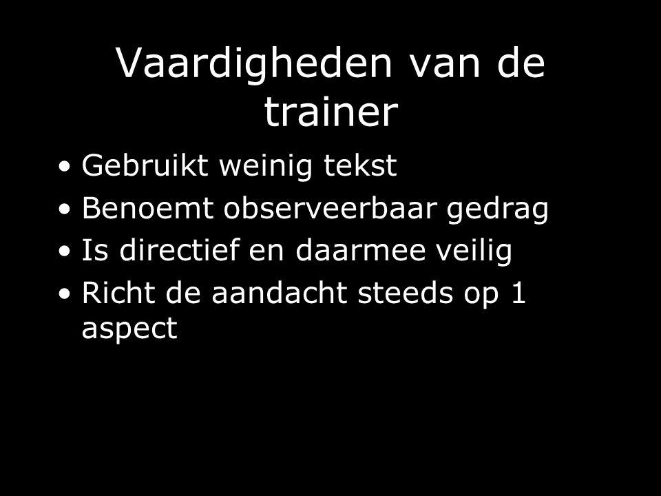 Vaardigheden van de trainer