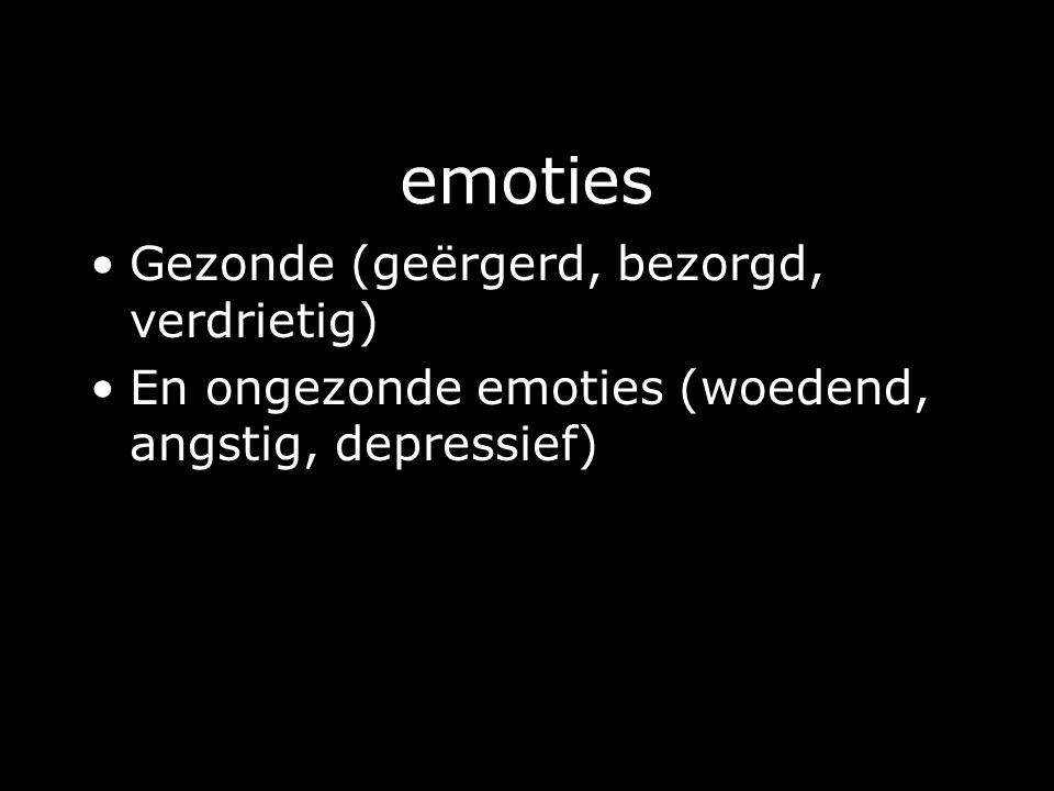 emoties Gezonde (geërgerd, bezorgd, verdrietig)