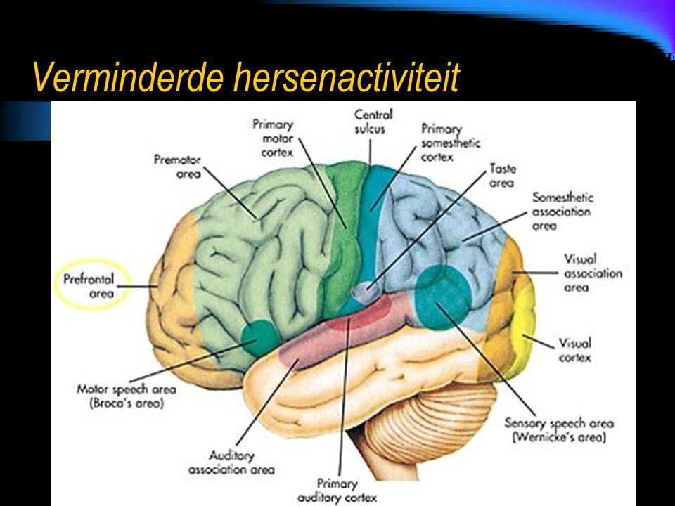 Verminderde hersenactiviteit