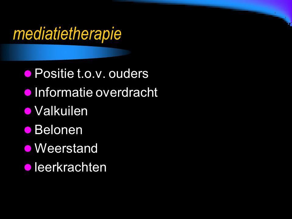 mediatietherapie Positie t.o.v. ouders Informatie overdracht Valkuilen