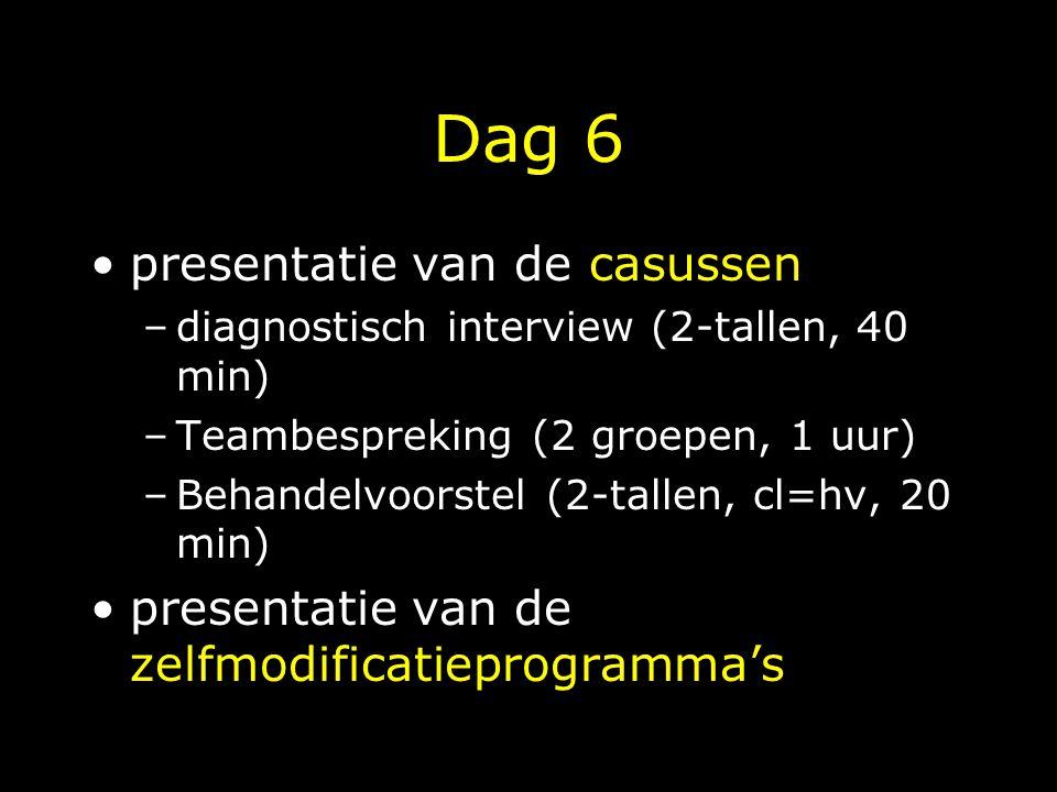 Dag 6 presentatie van de casussen