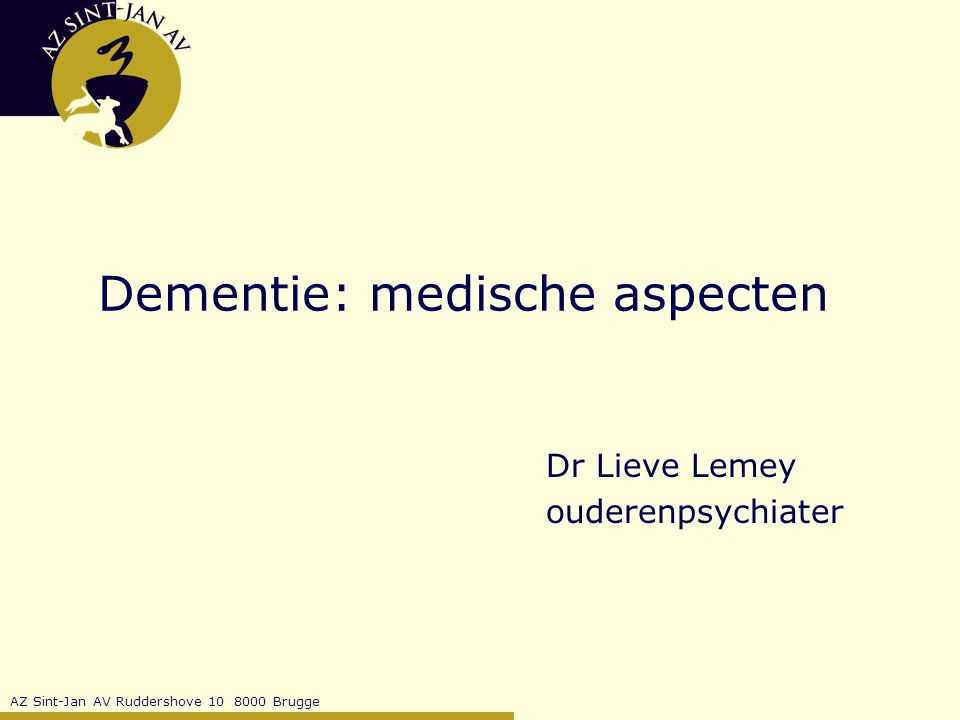 Dementie: medische aspecten