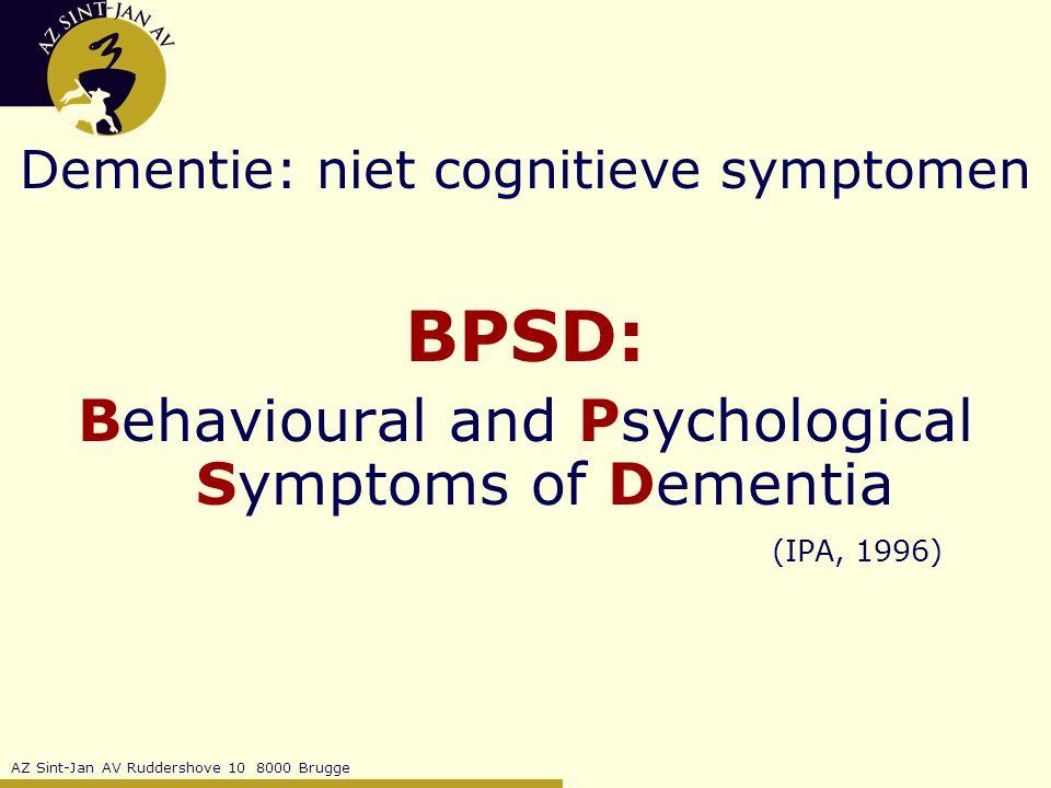 Dementie: niet cognitieve symptomen