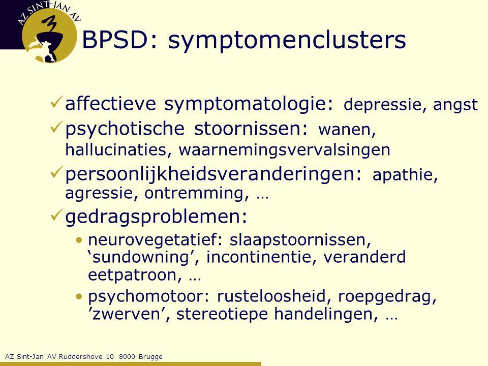 BPSD: symptomenclusters