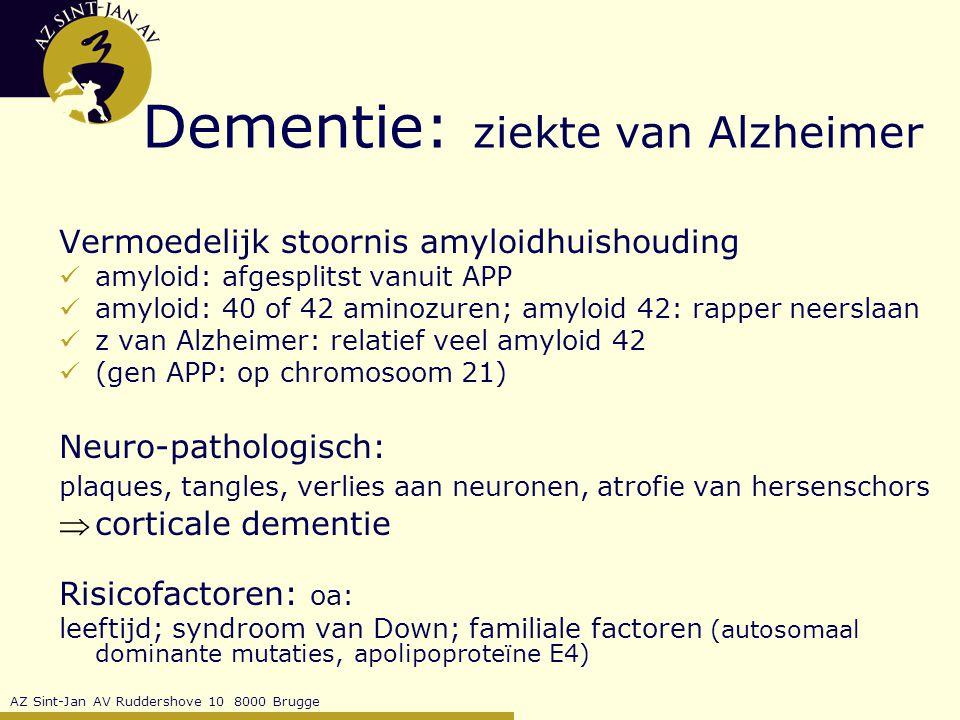 Dementie: ziekte van Alzheimer