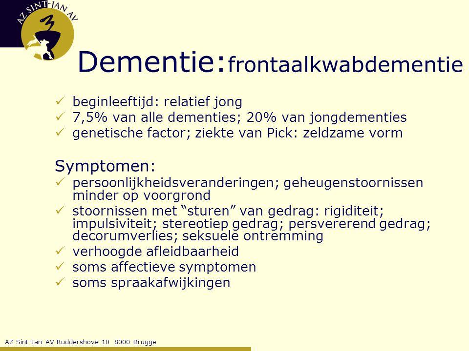 Dementie:frontaalkwabdementie