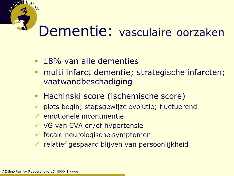 Dementie: vasculaire oorzaken