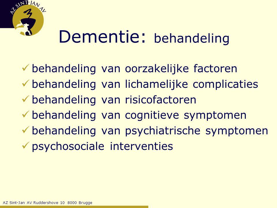 Dementie: behandeling
