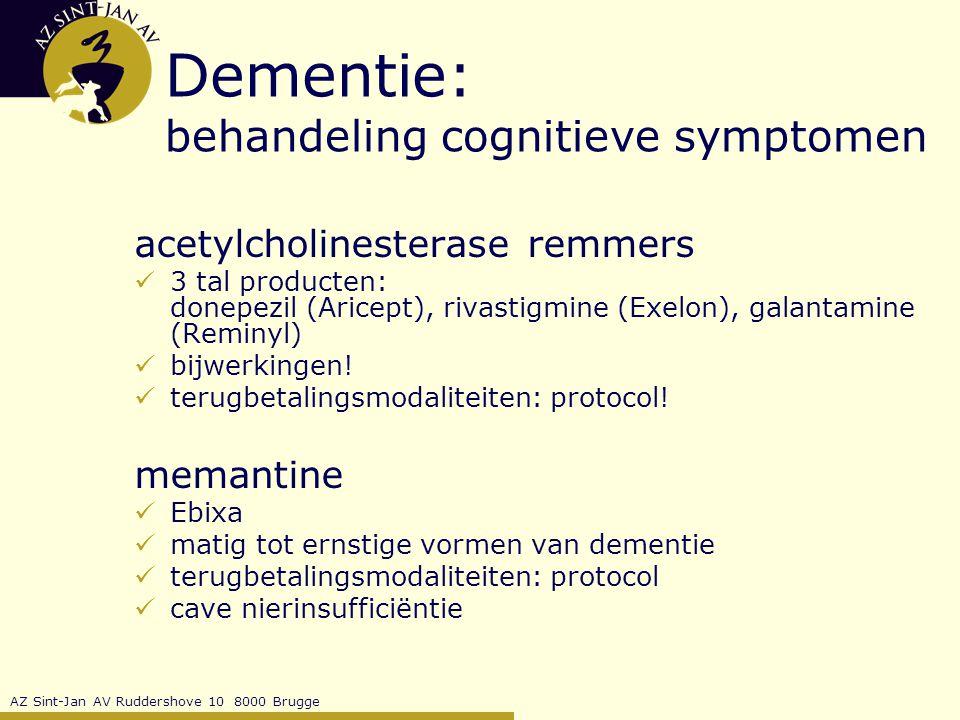Dementie: behandeling cognitieve symptomen