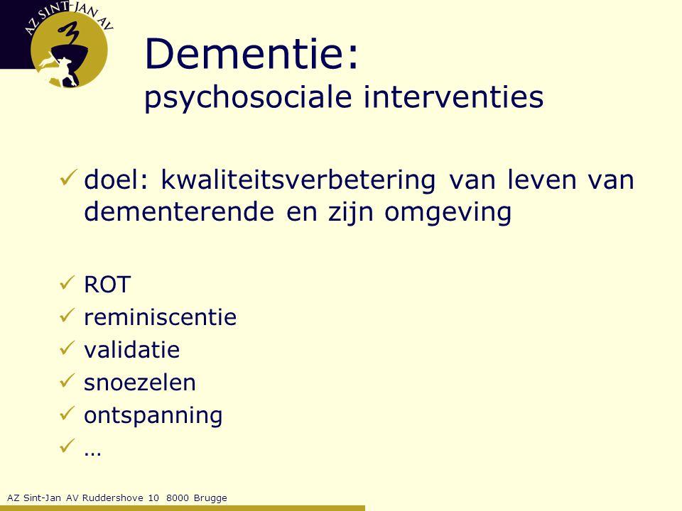 Dementie: psychosociale interventies