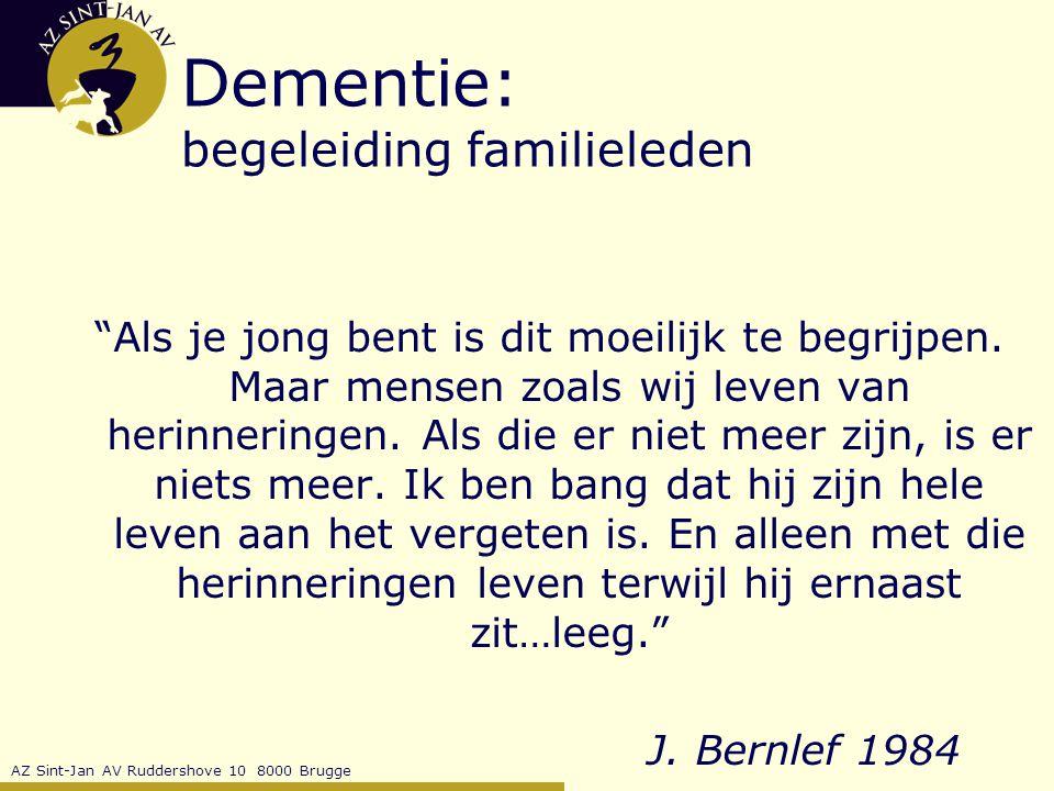Dementie: begeleiding familieleden