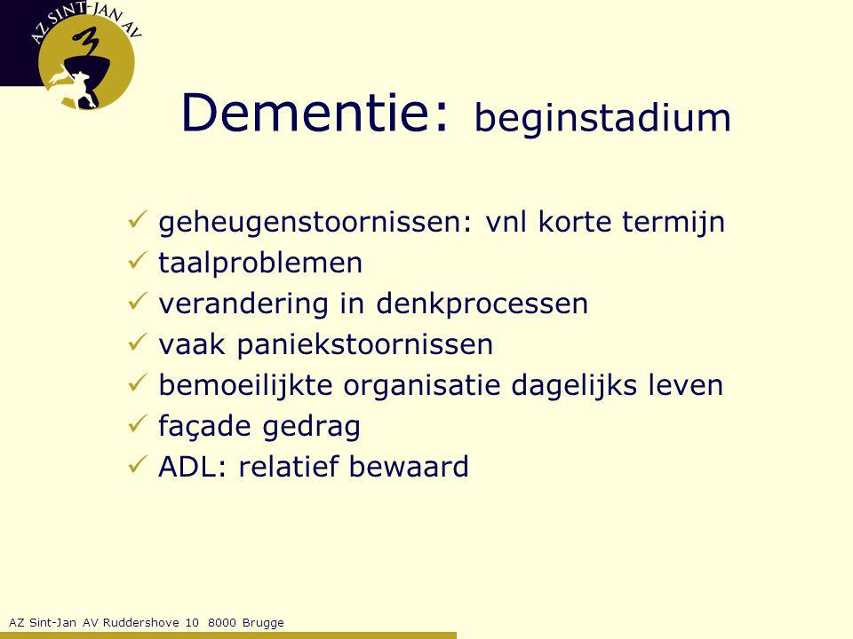 Dementie: beginstadium
