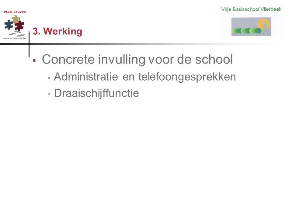 Concrete invulling voor de school