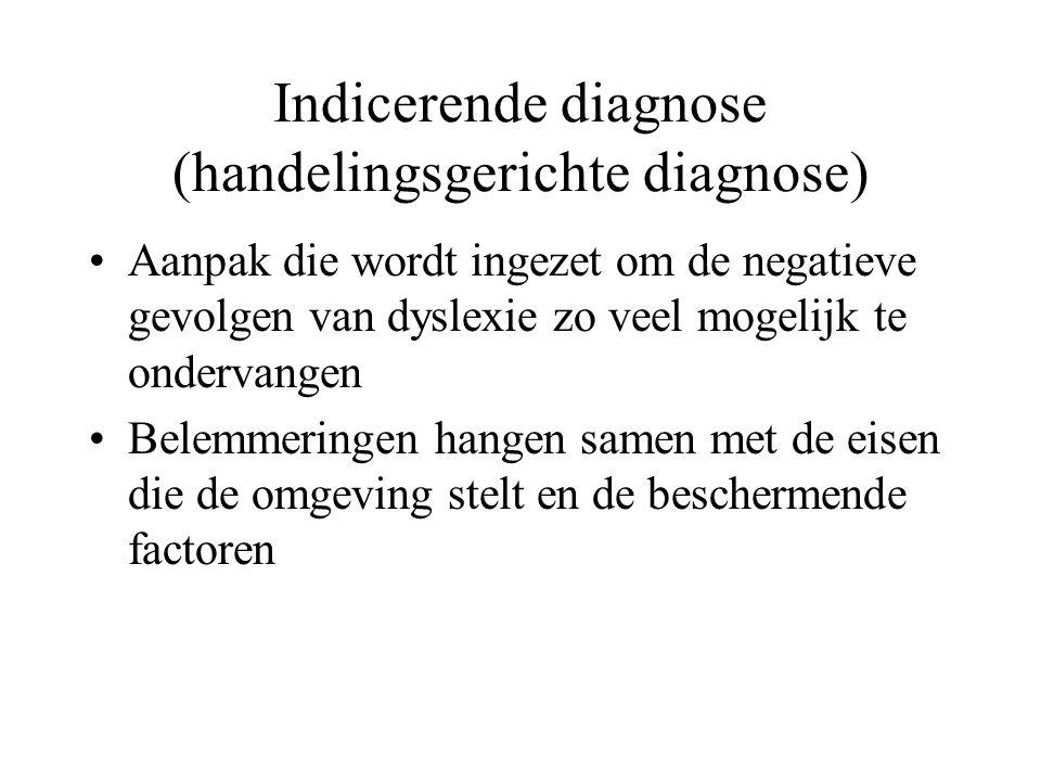 Indicerende diagnose (handelingsgerichte diagnose)