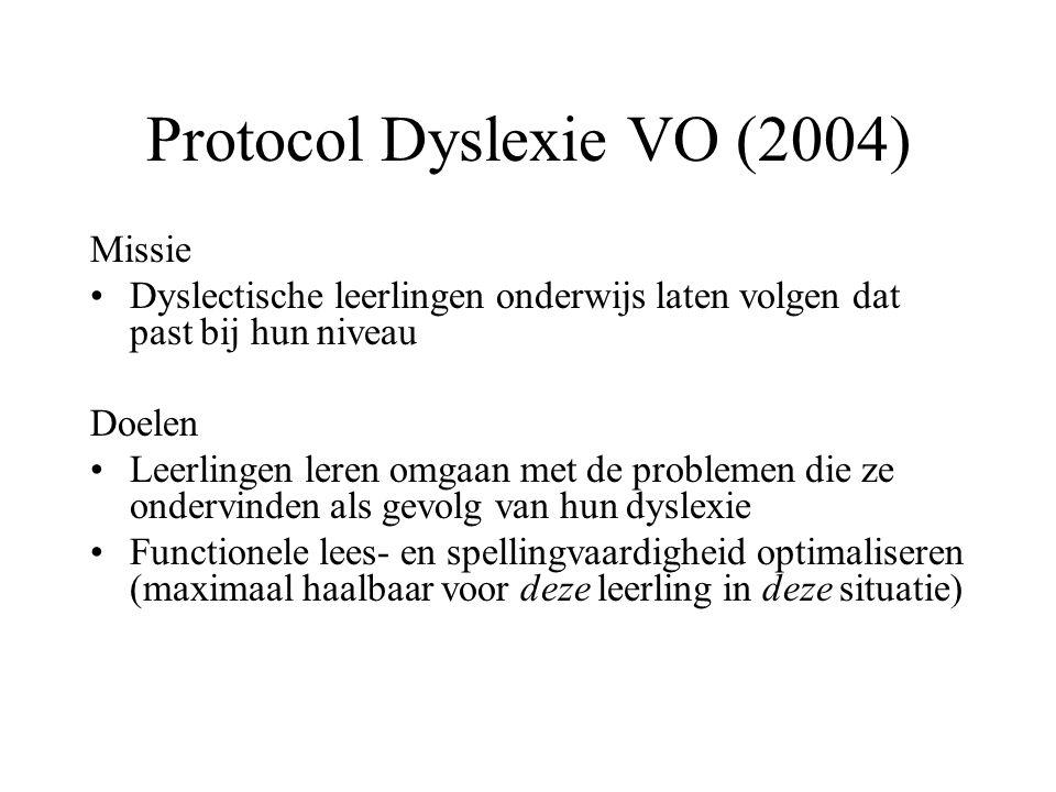 Protocol Dyslexie VO (2004)