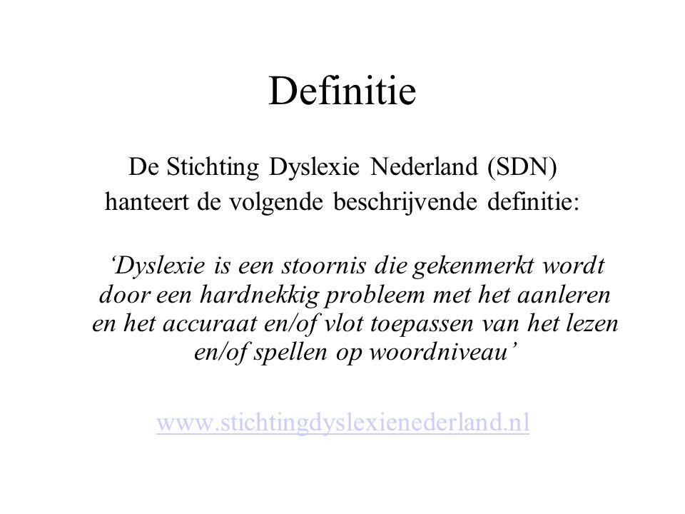 Definitie De Stichting Dyslexie Nederland (SDN)