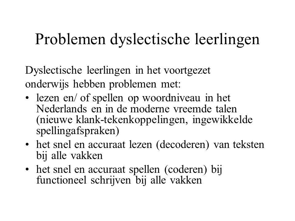 Problemen dyslectische leerlingen