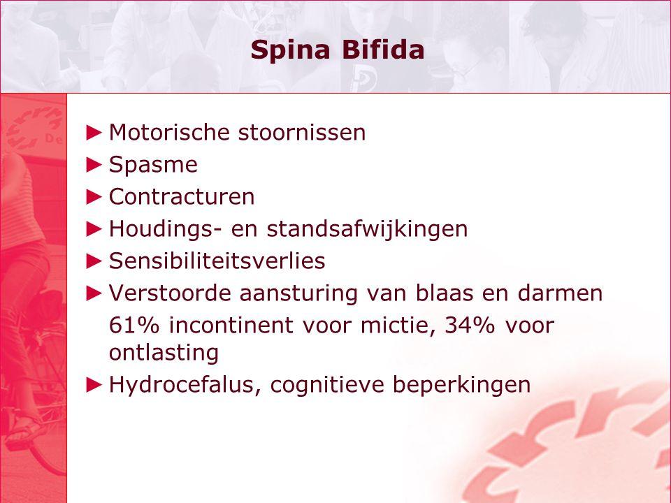 Spina Bifida Motorische stoornissen Spasme Contracturen