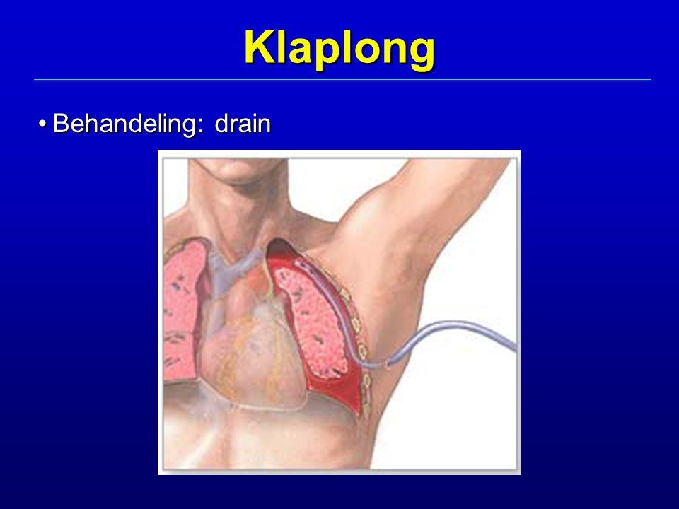 Klaplong Behandeling: drain