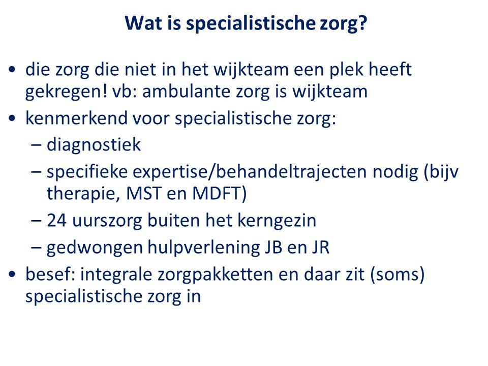 Wat is specialistische zorg