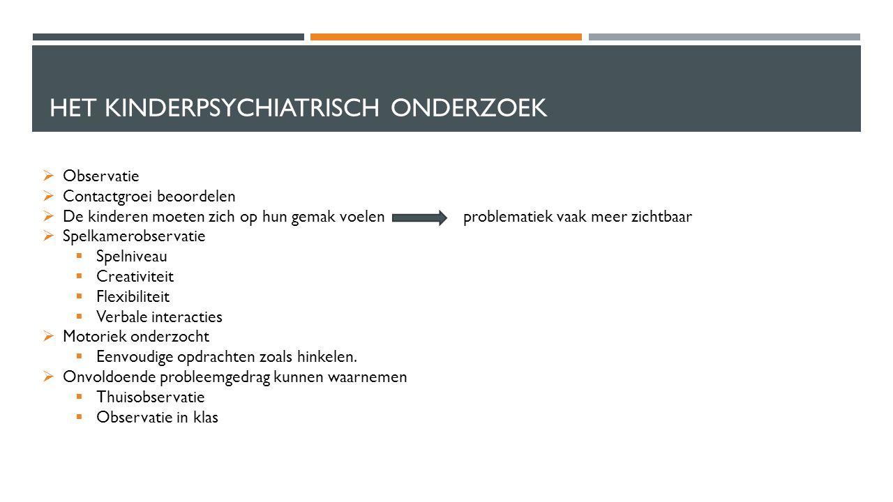 Het kinderpsychiatrisch onderzoek