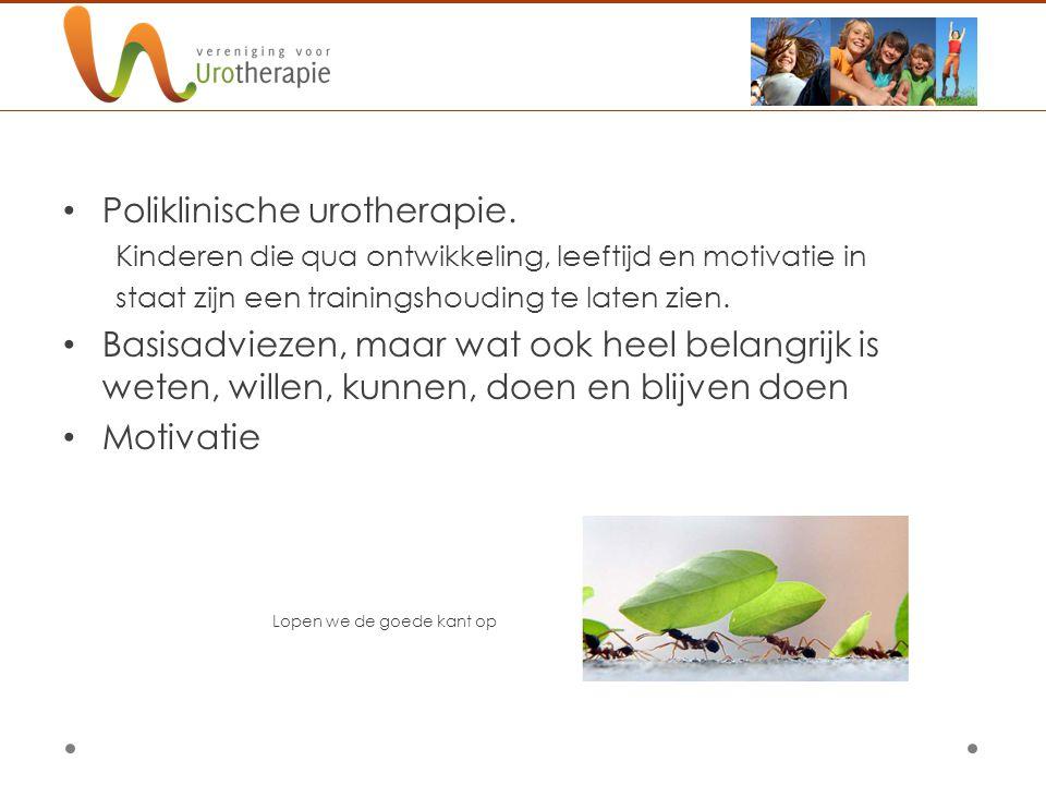 Poliklinische urotherapie.
